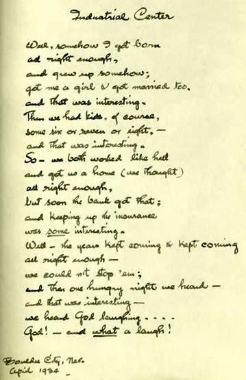 Maynard Dixon Poetry Letters Maynard Dixon Industrial Center April 1934